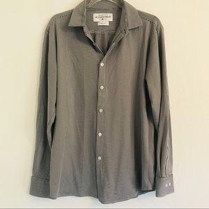 Mizzen & Main black white button down shirt Large